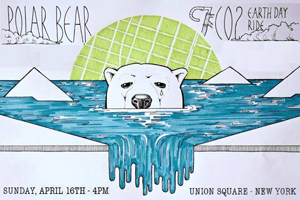 polar bear earth day bike ride