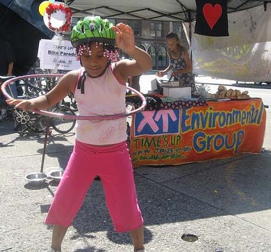 kids want bike lanes and safe streets too - photo from Summer Streets