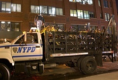 Truck transporting bikes taken on ride by NYPD by Fred Askew