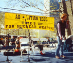 Abolition 2000. TIME'S UP! for nuclear weapons.