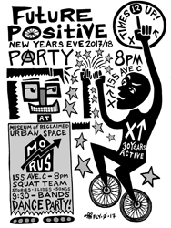 Future Positive New Year's Eve Party Flier